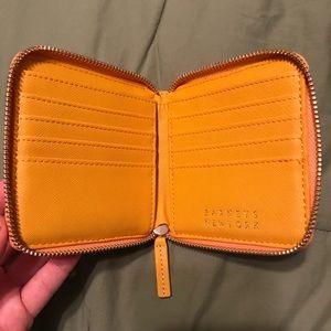 Barney's New York Mustard Wallet